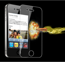 Free Shipping 500pcs/lot For iphone 4 4S Tempered Glass Screen Protector 0.26mm 9H With Retail Package