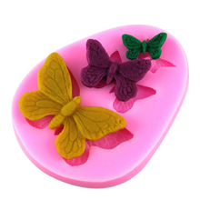 2016 Butterfly Fondant Silicone Molds for Cake Decorating Tools Chocolate Cake Mould Cooking Tools Kitchen Accessories SMJ01