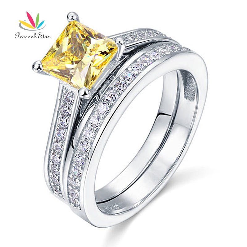 1 5 ct princess cut yellow canary created solid