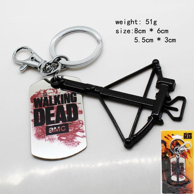 The Walking Dead Crossbow Metal Pocket Keychain