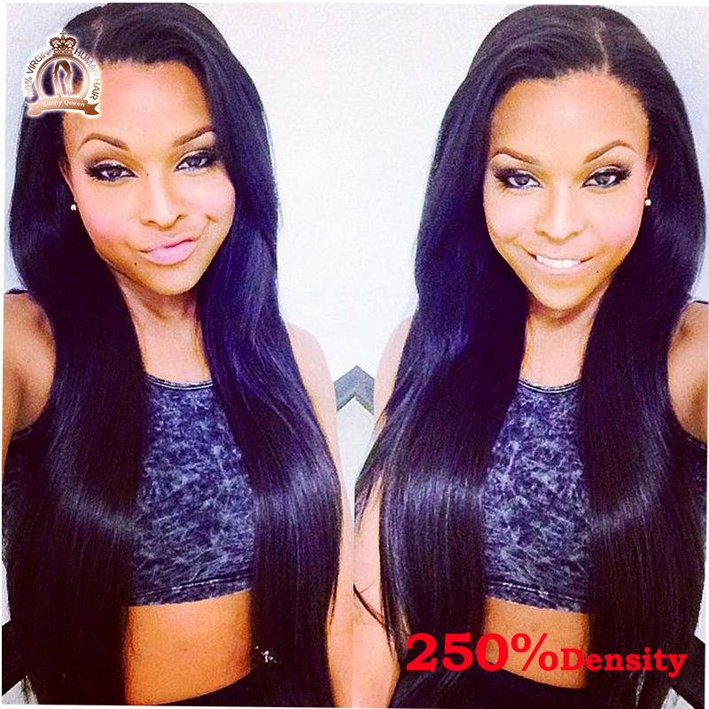 250% High Density Brazilian Virgin Hair Straight Glueless Full Lace Human Hair Wigs For Black Women Lace Front Human Hair Wigs<br><br>Aliexpress
