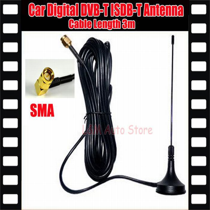 Digital TV Passive Antenna Mobile Car Digital DVB-T ISDB-T Aerial Antenna Car TV Antenna Free shipping!!!(China (Mainland))