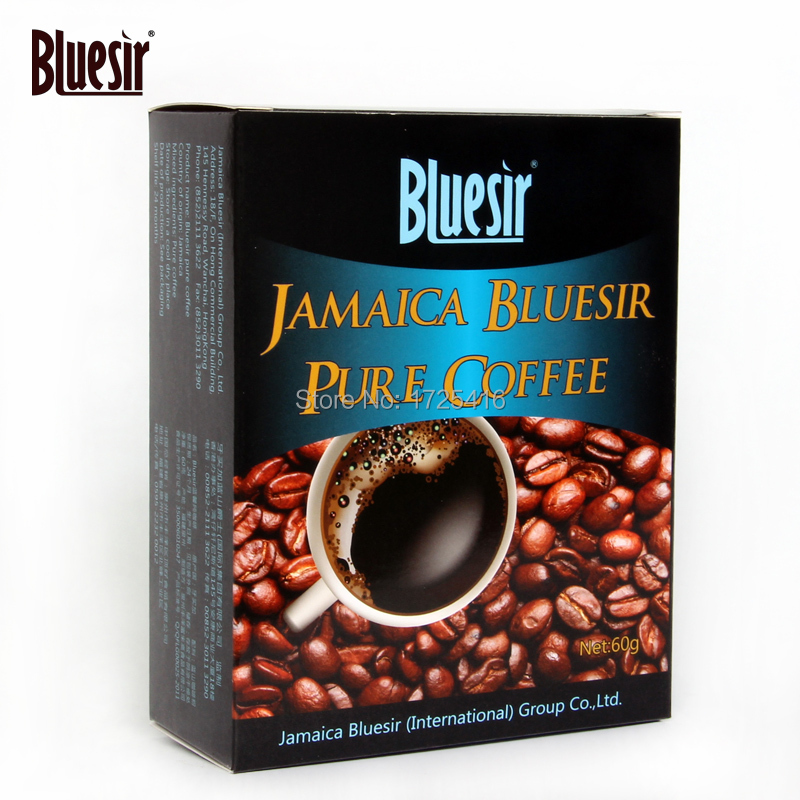 Sugar free coffee black Pure refreshing blue mountain instant coffee bitter coffee powder 60 g free
