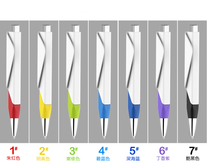 2016 New creative Design Award color ball point pen Advertising Ballpoint pen Fold corner custom Pens office stationery(China (Mainland))