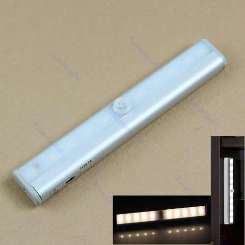 Free Shipping 10 LED IR Infrared Motion Detector Wireless Sensor Closet Cabinet Light Lamp(China (Mainland))