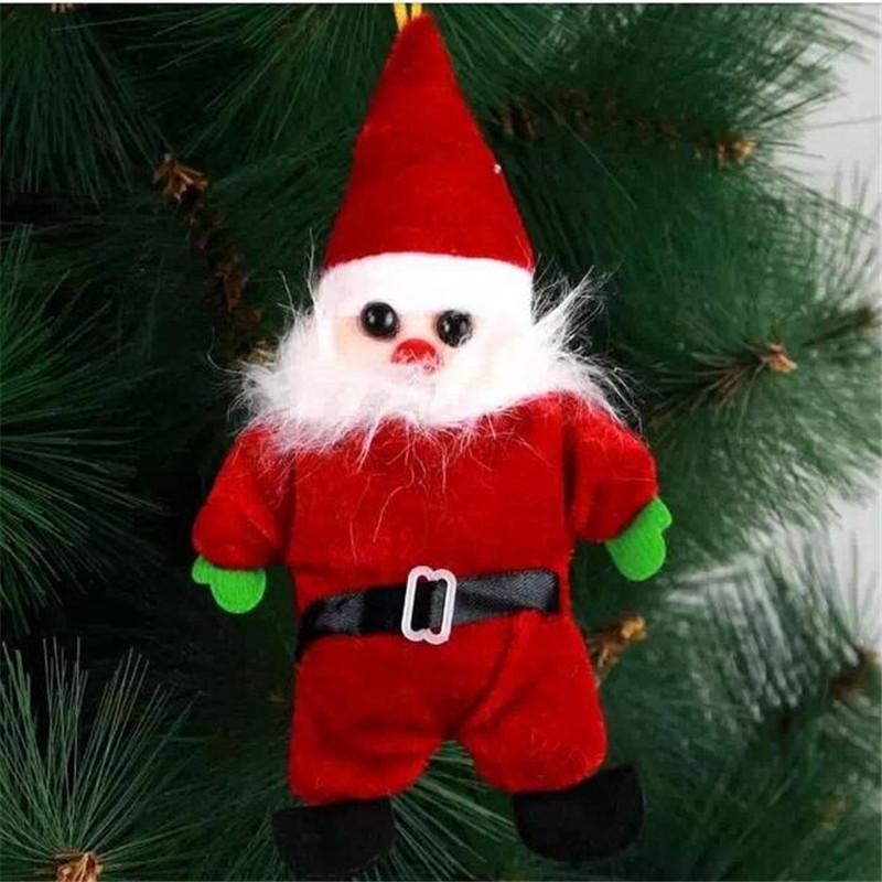 1PCS Christmas Ornament Gifts Cute Santa Claus Doll kids baby cartoon plush Toys new year Decoration Festive & Party Supplies(China (Mainland))