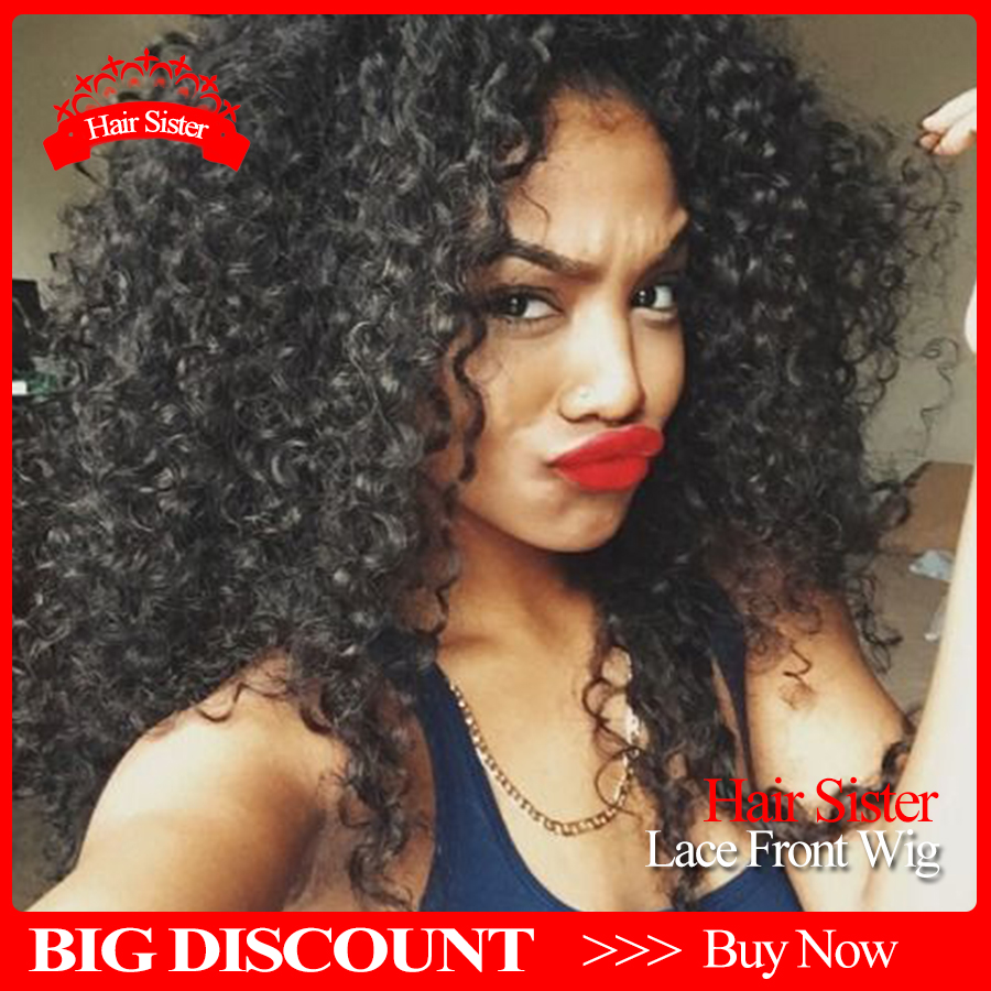 2015 New Afro Kinky Curly Lace Front Wigs Long Black Synthetic Lace Front Wig Cute High Quality Synthetic Wigs For Black Woman<br><br>Aliexpress