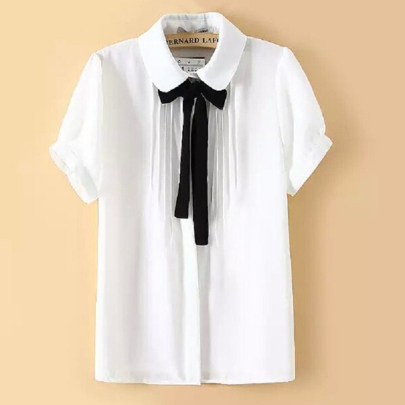 Womens dress shirt and tie with model photo in ireland for White shirt with black