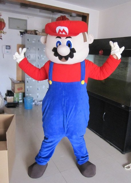 New Super Mario Mascot costume Christmas costume dress Santa Costum party adult costume