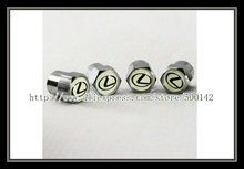 free shipping 10sets Metal Chromed Car Tire wheel Valve Stems Caps For Lexus All Model (Fits: Lexus)(China (Mainland))