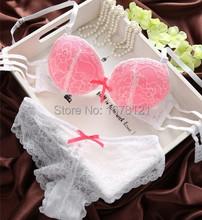 New Moda 2015 VS Segredo Marca Hot Sexy lingerie Define confortável Mulher algodão Lace Renda Bra definir Push up