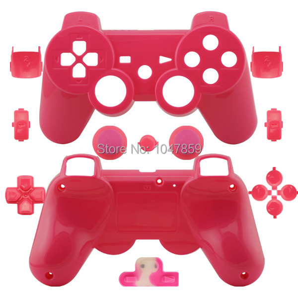1 piece New Custom Glossy Pink Replacement Housing Controller Shell For Sony PS3 Wireless Controller Cover for dualshock 3(China (Mainland))