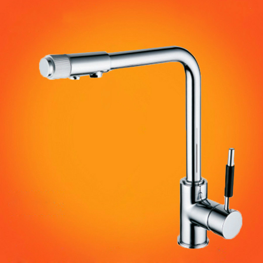 Kitchen Tap Torneira De Cozinha High-grade All Copper Pure Water Three Faucet With Hot And Cold Direct Drinking Healthy Kitchen(China (Mainland))