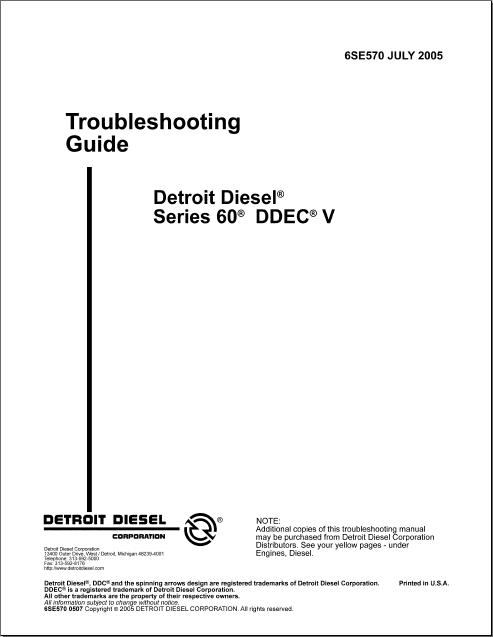 Detroit Diesel 60 Series EPA07 Service Manual(China (Mainland))