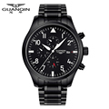 2016 GUANQIN Top Brand Luxury Watch Men Stainless Steel Military Sport Watches Full Automatic Mechanical Watch
