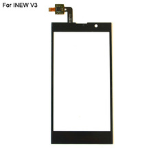 Black Color Front Panel For INEW V3 Touch Screen Digitizer Replacement 100% Brand New Mobile Phone Sensor Repair Parts In Stock