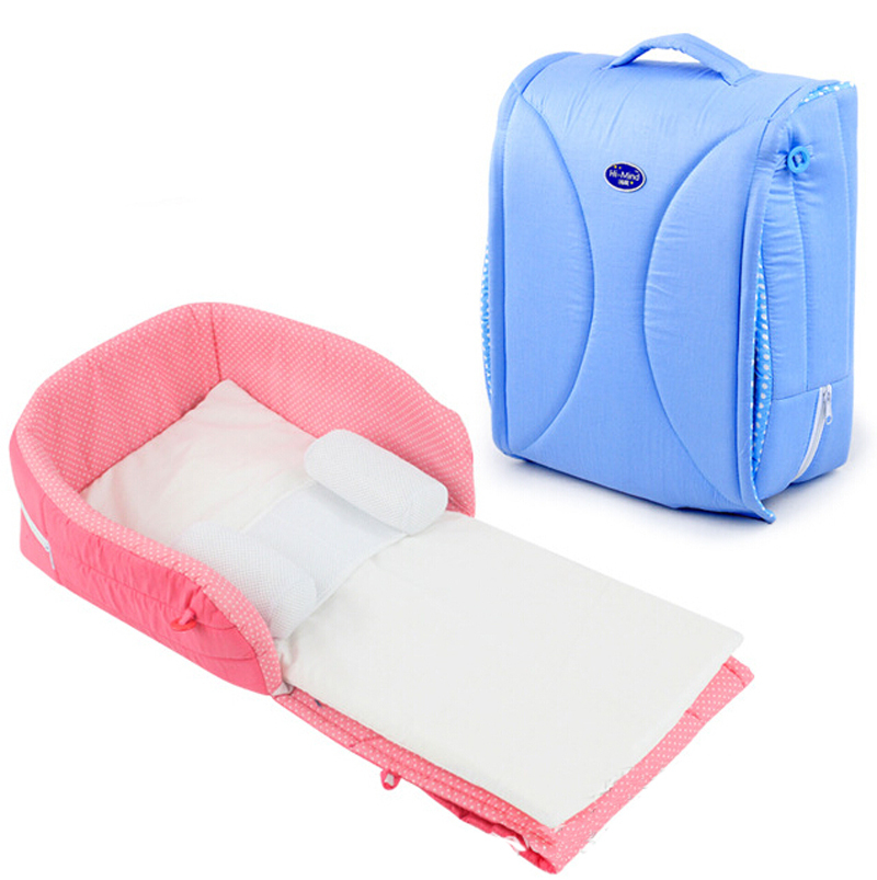 Travel Baby Bed / Cot Safe Soft Breathless Newborn 0-6 Mouths Baby Cradles Crib Infant Portable Folding Bed(China (Mainland))