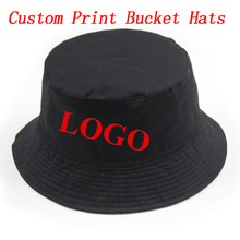 Custom Personalized Print Bucket Hat Adult Men Women Outdoors Sports Fashion Casual Cotton Gorras Hats Free Shipping(China (Mainland))