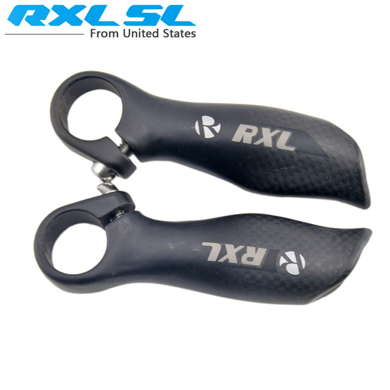 RXL SL Small Auxiliary Ergonomic Bar End Carbon Fiber Road Bicycle Bar Ends Handlebar Mountain Bicycle Part Matte(China (Mainland))