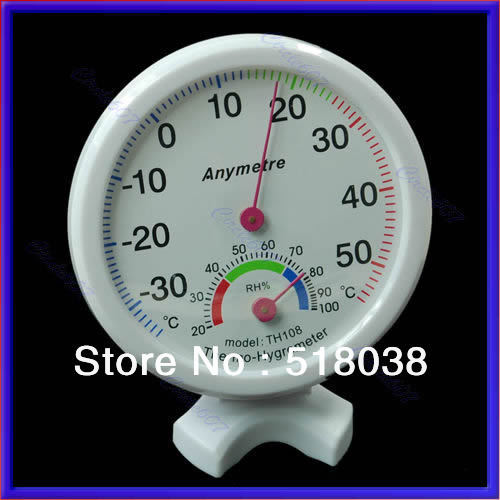 A25Electronic 2014 New Free Shipping Indoor Outdoor Thermometer Hygrometer Temperature New(China (Mainland))