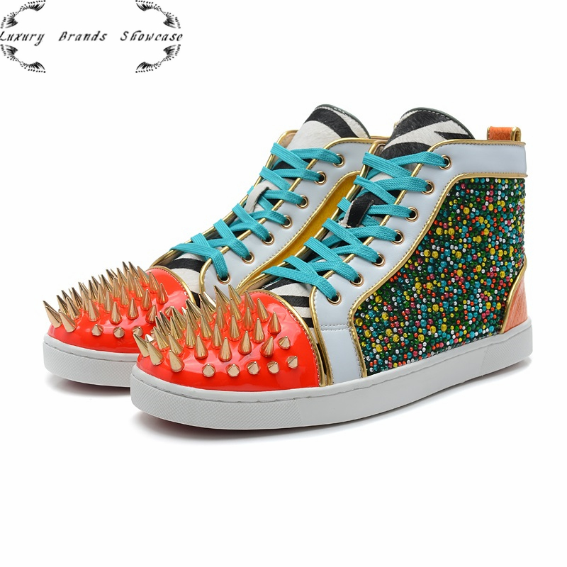 2013 new handmade luxury France red bottom brand  fashion Sneakers for men, colorfull sexy dress Shoes 2 color,frees hipping