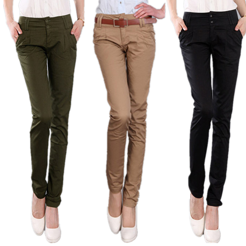 Black Khaki Pants Women