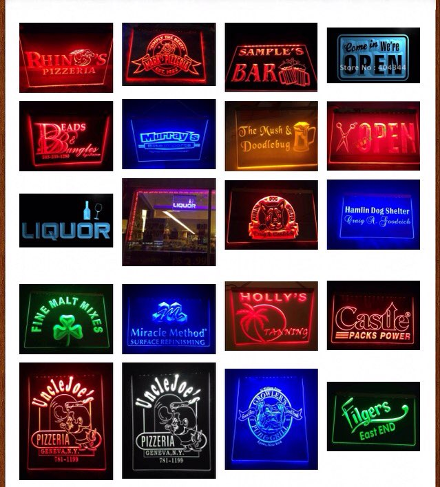 Big Custom Size 400 x 300 mm Design Your Own LED Neon Sign Custom Neon Sign LED Signs Edge Lit Plastic Crafts Bar Dropshipping(China (Mainland))