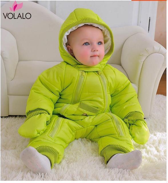 Детские Комбинезон одежда толстые теплые осень и зима одежда новорожденного ребенка на улице в зимнее восхождение одежда Ползунки костюмы мягкий