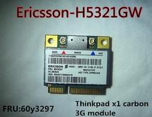 Mini PCI-E Wireless 3G WWAN Card Ericsson H5321GW 60Y3297 3G module wifi Card for IBM Thinkpad x1 Carbon X230 W530 free shipping(China (Mainland))