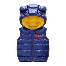 HH bé áo Vest Bộ áo quần áo Trẻ Em in hình trẻ em cho bé trai cotton Mùa Thu Đông cho bé gái áo khoác ngoài Áo Khoác(China)