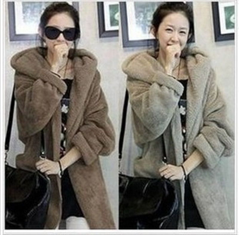 Plus size clothing autumn mm 2013 slim medium-long wool plush coat thickening outerwear - shao qing's store