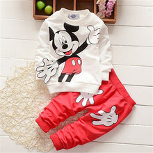 Buy 2017 Kids Clothes Baby Boys Mickey Clothing Sets Roupas Infantis Menino Menina Costumes Children Toddler Girls Tracksuits for $9.91 in AliExpress store