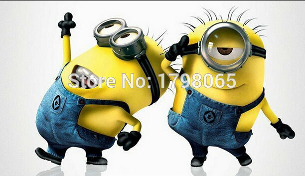 2 Pic Despicable Me Cute Minions Modeling Foil Balloon Birthday Decoration Wedding Party Inflatable Air Balloons Cartoon Toy(China (Mainland))