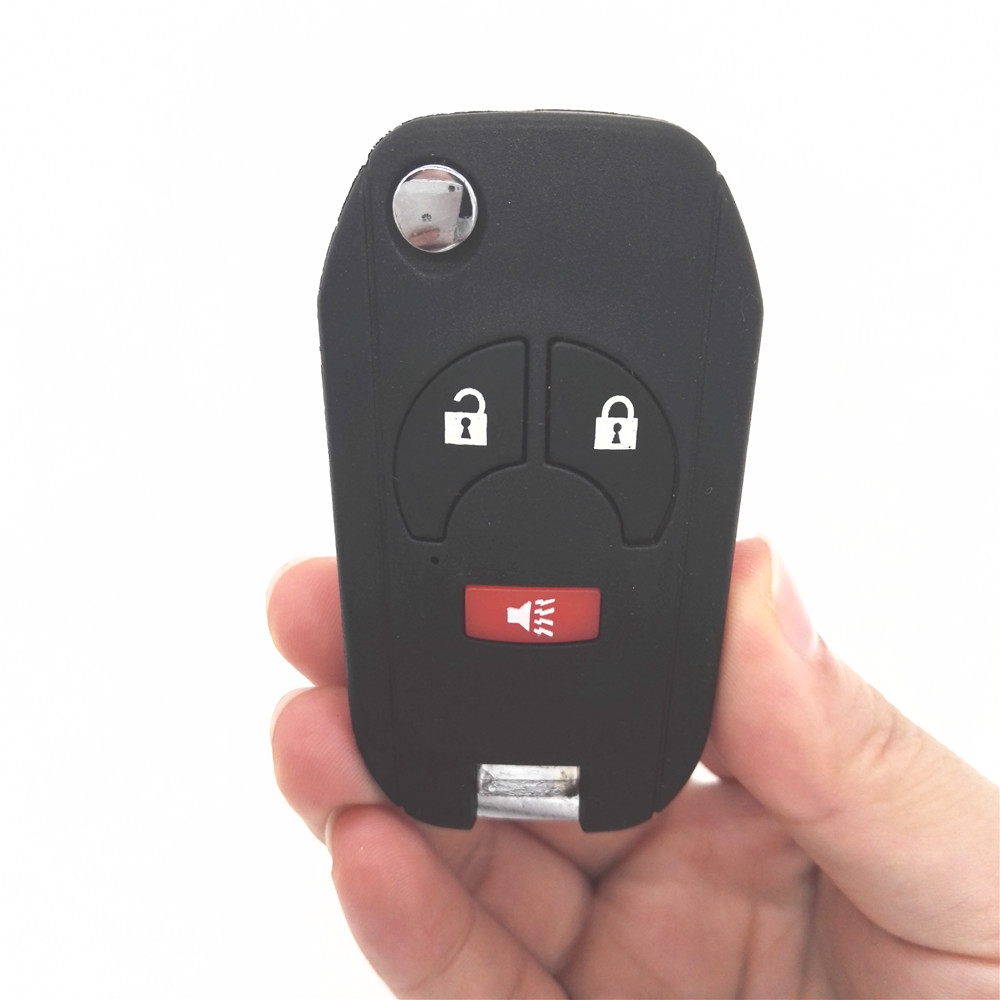New Replacement 2+1/3 Buttons Flip Folding Remote Key Shell For Nissan Key Case for Nissan Key Case Cover with Key Blade(China (Mainland))
