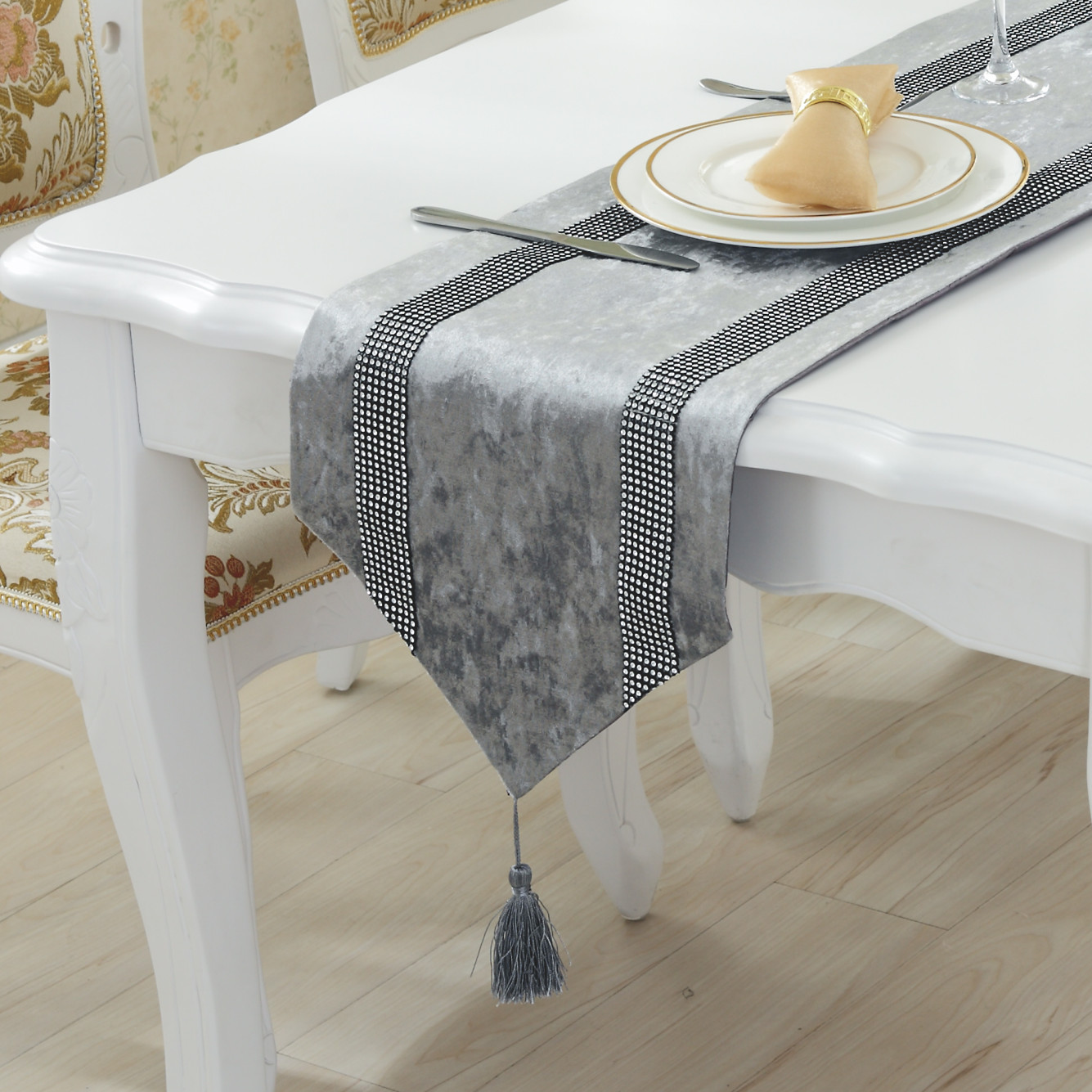 Coffee Table Cloth Table Runner European Stylish Minimalist Modern Diamond Table Mats
