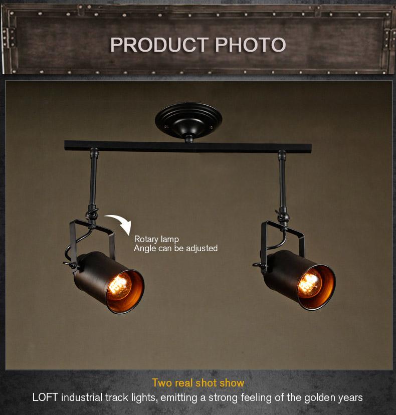 loft bar wall probe industrial pendant light black track lig