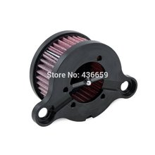 Black Air Cleaner Intake Filter Kit For Harley Sportsters XL883 XL1200 2004 2005 2006 2007 2008