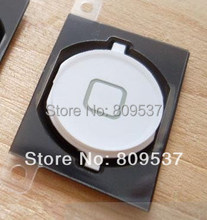 Home Button Key With Rubber Spacer For Apple Iphone 4S 4GS White Black 10pcs/lot(China (Mainland))
