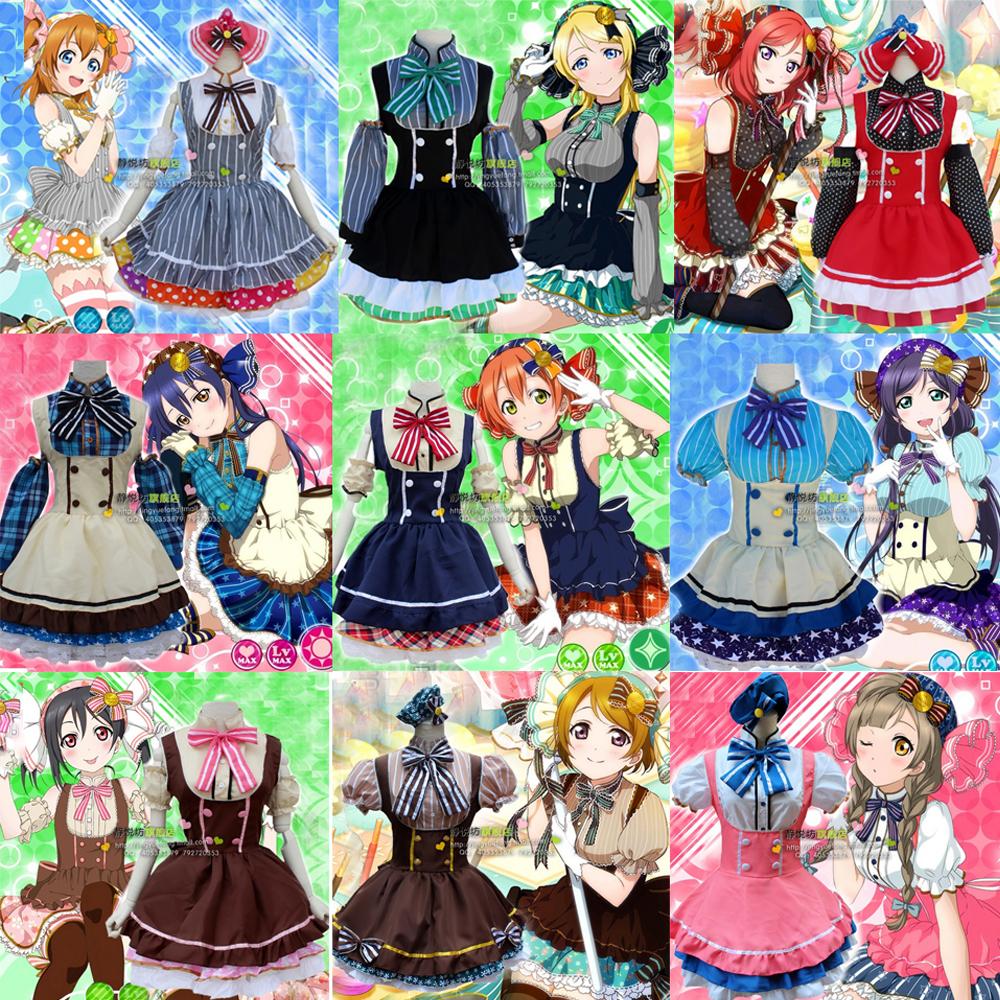 Lovelive! Love Live! Candy Cosplay Costume Maidservant Dress UniformОдежда и ак�е��уары<br><br><br>Aliexpress