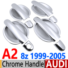 AUDI A2 8z Luxurious Chrome Door Handle Covers Trim Set 4Door 1999-2005 Accessories Car Styling 2000 2001 2002 2003 1.4 TDI - Earthwings Car-Styling Store store