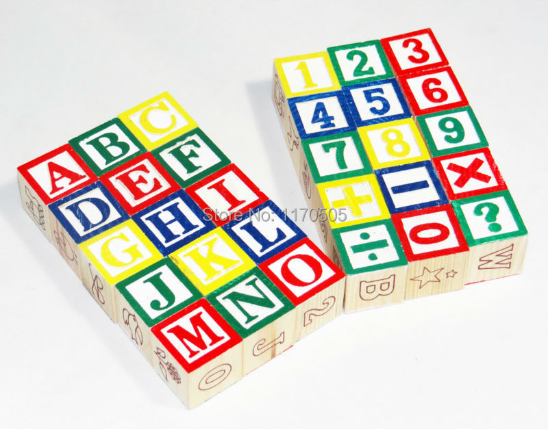 Free delivery,educational toys,15PCS English alphabet blocks,Digital building blocks,wooden toys,children's early learning AIDS(China (Mainland))