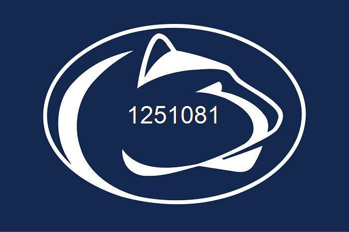 Penn State Nittany Lions Flag 3ft x 5ft Polyester NCAA Banner Penn State Nittany Lions Flying Size No.4 144* 96cm QingQing Flag(China (Mainland))