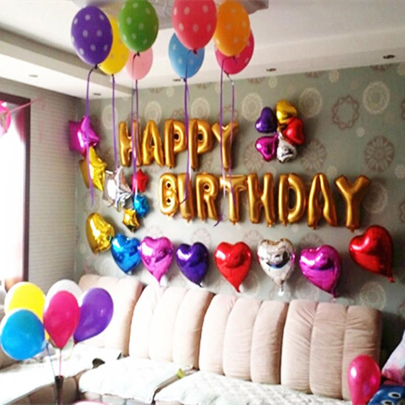 Cute Gold Alphabet Letters Balloons Happy Birthday Party Decoration Aluminum Foil Membrane Ballon Wholesales #69780(China (Mainland))