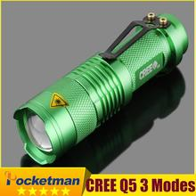 high-quality Mini CREE Waterproof LED Flashlight Zoomable LED Torch flashlight torches light lamps for Rechargeable battery(China (Mainland))