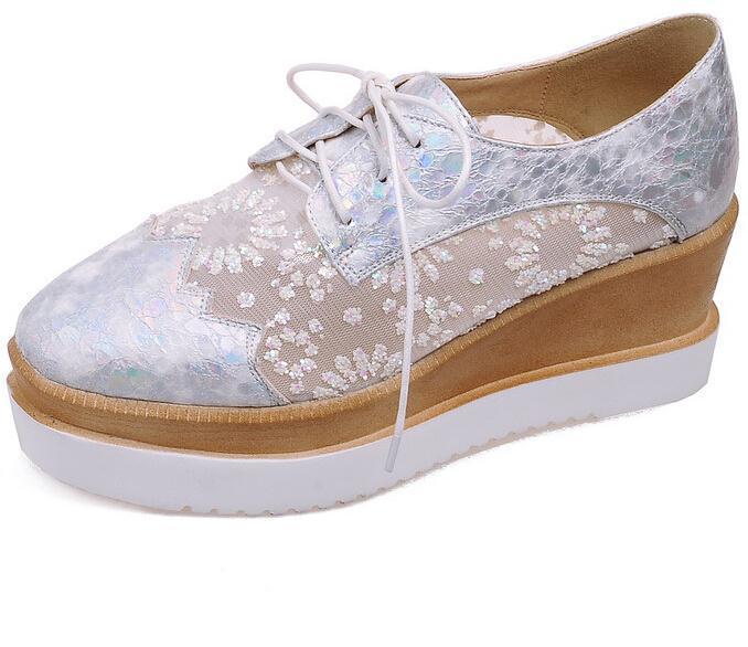 ENMAYER New  Women Pumps Bohemia  High Heels Wedge Spring Summer Party Wedding Shoes Platform Pumps shoes women<br><br>Aliexpress