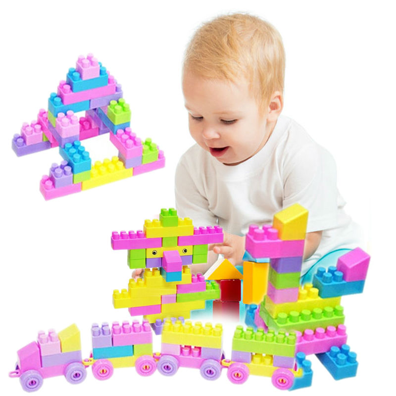 46Pcs Plastic Children Kid Puzzle Educational Building Bricks Toy DIY Creative Bricks Toys for Children Toys