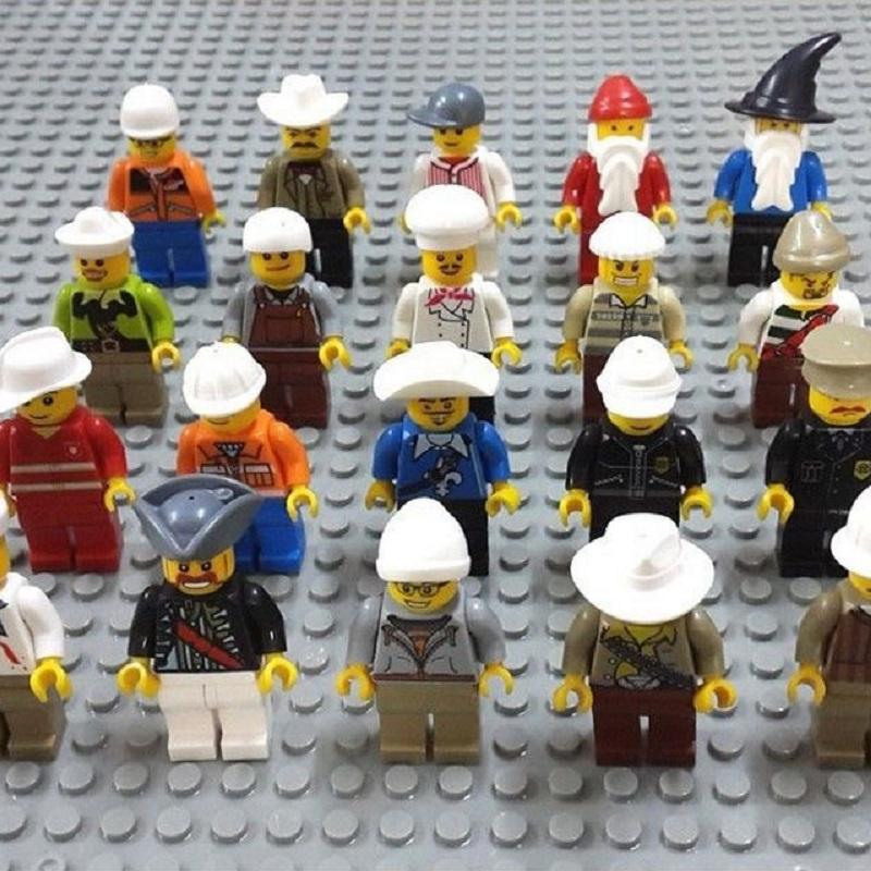 20 Pcs Different Minifigures Men People Minifigs Grab Bag gift Random Figures Kids Toys(China (Mainland))