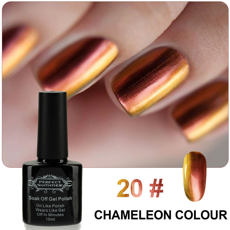 Perfect Summer Gel Polish Chameleon Nail Gel 10ml Soak off LED UV Nail Gel High Quality Best Price Limited Sale(China (Mainland))