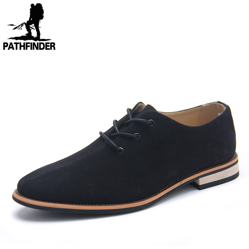 2016 New Spring Fashion Men's Suede Leather Shoes Casual Lace Up Shoes Oxford Flats Shoes Autumn Size 39-44 High Quality