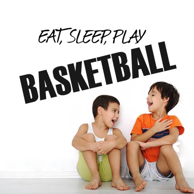 Стены котировки искусства домашнего декора ешьте сна играть в баскетбол искусства наклейки детская мальчик декор стены для мальчиков номеров